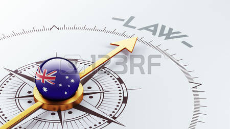 Featured Image Of An Australian Flagged Compass Pointing To The Word Law.