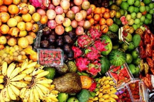 Featured Image Of A Selection Of Colorful Tropical Fruits And Vegetables.