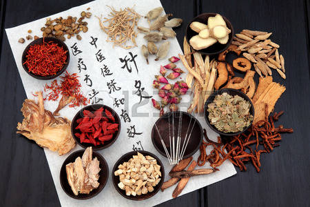 Featured Image Of Japanese Herbs Selection And Calligraphy.