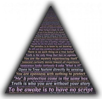 POWER OF PYRAMID... AWAKE... NOWHERE NOWHEN NOHOW NOWHY... NO THING... THING NO... ADYASHANTI.