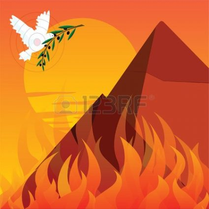 Fire in the Hole... the Middle... too. Pyre amidst. Pyramid.