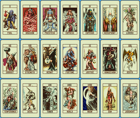 Image Of A Compilation Of Tarot Cards Figures.