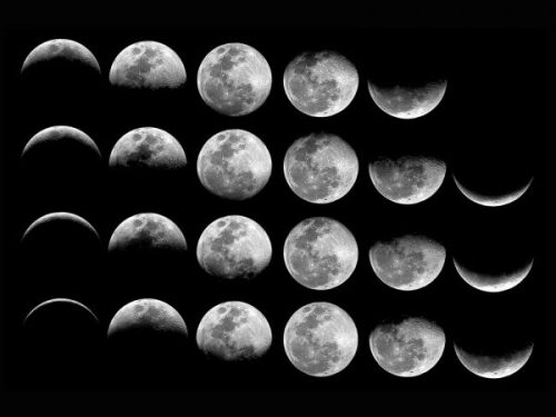 Featured Image Showing The Moon In Phases.