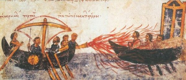 THE GREEK FIRE... THAT IS LIQUID HEAT INDEED. photocredit/thanks:penfieldedu