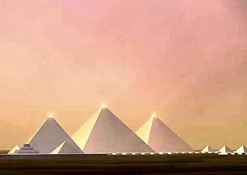 PYRAMIDS AT NIGHT...LIGHT 'EM UP... ...ANCIENT PLACES, CIVILISATIONS AND KNOWLEDGE... LEGENDS OF ANCIENT EGYPT RELATE TALES AND EXCERPTS FROM HISTORY... THE PYRAMID CAPSTONE AND INNER CAUSEWAY NICHES WERE SAID TO BE CRYSTAL OR SIMILAR... CRYSTALLINE PERHAPS BEST TRANSLATION.?. photocredit/thanks:thepinsta