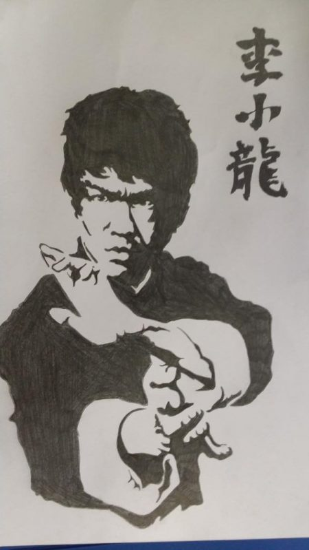 nicksdrawingbrucelee ...GUEST ARTIST...SUCH AS...BRUCE LEE by N.ROMA