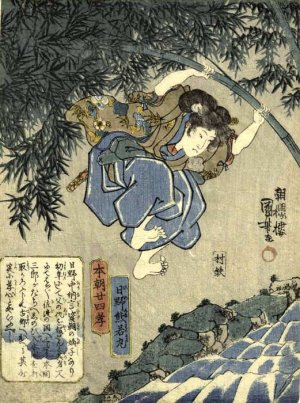 photocredit/thanks:pinterest KUMAWAKAMARU...POLE VAULTING A MOAT. CLICK STICKS TO SEEK AND FIND WITH Shiro... HOW TO WALK ON WATER, GET RESURRECTED... AND OTHER CHILDREN'S TALES INDEED.