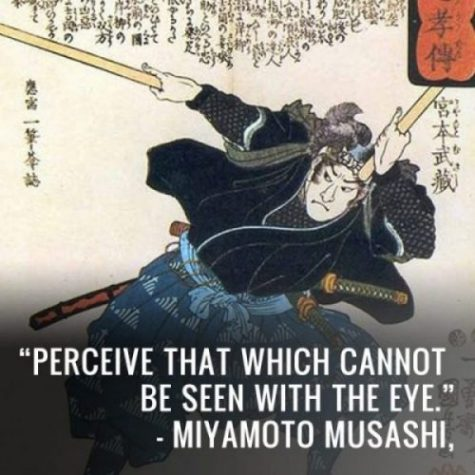 MUSASHI's brow creased, in concentration and frustration. The SWORD and He were working in unison, as one unit, smooth and balanced. CARVING only Air molecules the result. NOTHING he did would work. Moreover, his opponent carried NO SWORD and by all accounts had never done so. GONNOSUKE carried a STICK...a big STICK, longer even than MUSASHI's SWORD. Little MUSASHI did was of consequence...the STICK was leading the WAY. Winning with WOOD...over STEEL. Grown somewhat used to the WAY OF THE SWORD and the cutting power required for combat, MUSASHI quickly realised this Opponent and WEAPON were different. Twas not only Death being faced in these moments for his combatant here was worthy indeed. A WARRIOR from KISO province; one whose immersion in BUDO was fuller than his at this stage. MUSASHI felt it before the fight and now... as an intense Force, another he had to contend with. NOTHING he did would work. Abandoning Fate to his beloved BUDO,.. MUSASHI relentlessly moved, attacked and struck, bringing concentration, focus and understanding into his analysis of this DUEL. The STICK had extra length and reach, was moved and manipulated faster... safer too. Both ends could be used to defend, attack and strike... consecutively... repeatedly. Polished smooth WOOD, angled defences and small movements negated his SWORD's steel sharp edge. Counterattacks came with strong percussive force, from any angle and position... with GONNOSUKE safely staying behind a defensive wall of WOOD. MUSASHI's SWORD-WORK was soon smashed and wrapped... in WOOD. Nothing he did would WORK with this miracle WOOD worker... the WARRIOR of WOOD from KISO. photocredit/thanks:pinterest