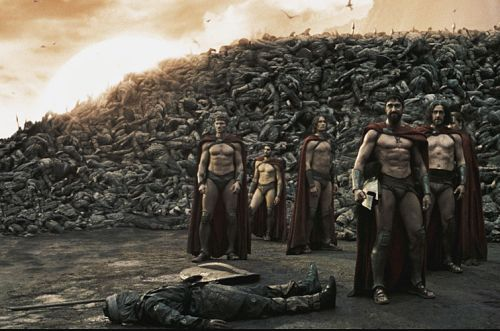 300...A FAV.SHIRO MOVIE... HUGE MASSES OF MARTIAL MAYHEM AND MAN SLAUGHTERING BEING MIMICKED which features some SPARTANS of OLDEN GREECE BEING QUITE MARTIAL AT TIMES IT SEEMS... btw... THE MEN OF SPARTA ARE THOSE STILL STANDING. THOSE LYING DOWN ARE THOSE THAT SPARTANS REFER TO AS TAKING THE GARBAGE OUT... THOUGH SHIRO ADMITTED WHAT THEY SAID... ALL SOUNDED RATHER GREEK TO HIM ANYWAY.?. AND THE SPARTANS SPEARS... ARE VERY SHARP AND TO THE POINT INDEED. CLICK PHOTO TO VIEW A TRIO OF JAPAN's GREAT-SPEARS. INDEED AND IN FACT TOO. photocredit/thanks:youtube