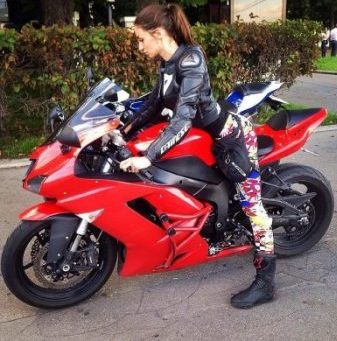KUNOICHI...ON A NINJA... VERY SIM. TO SHIRO's... MOTORBIKE THAT IS... had added WHITE Inner Wheels and Thin Black/Red/White Outer (then Under) Fairing Striping... White Tags and Model Number etc. Was oft ...CHAINED... TO THE ROAD PERHAPS.?. brrm brrm...