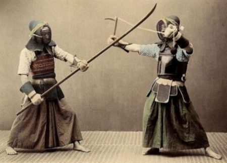 ANCIENT WEAPONRY OF JAPAN was oft training converted, simply...woodenly indeed. ARMOR helps too... Courtesy/Thanks: Archive/Getty Images.