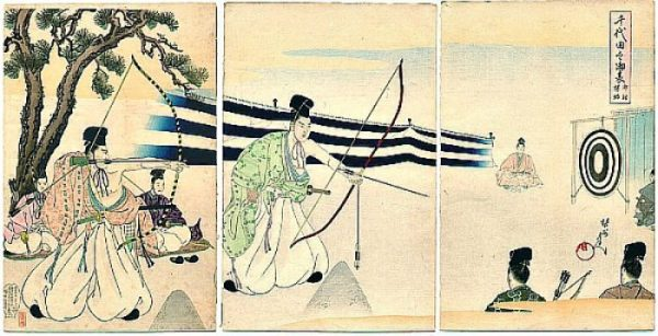 Photo Credit/Thanks kyudo.com THE WAY OF THE BOW IS SIMPLE FOR THE PRACTICED... AND PRACTICED BY MANY... THUS IDEAL FOR GREAT CONTESTS AND WARRIORS OF LEGEND TO EMERGE TRIUMPHANTLY TARGETING THE TRADITION.