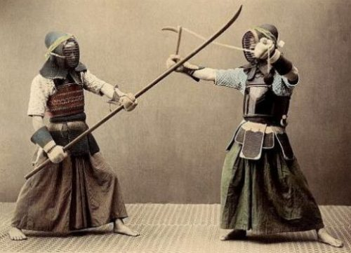 ANCIENT WEAPONRY OF JAPAN was oft training converted, thus simply...woodenly indeed. ARMOR helps also... Courtesy/Thanks: Archive/Getty Images.