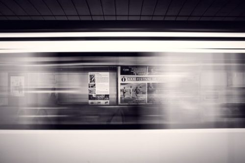 A TYPICAL CITY TRAIN MOTION VIEW...