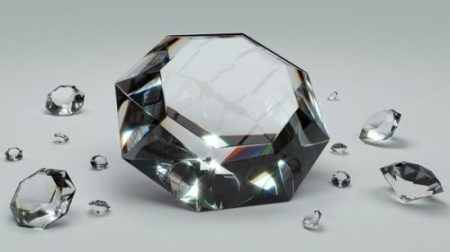DIAMONDS... OR GLASS. VISUAL SIMILAR IT SEEMS INDEED.