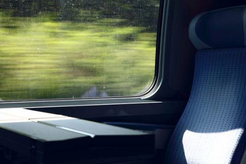 A TYPICAL COUNTRY TRAIN MOTION VIEW...