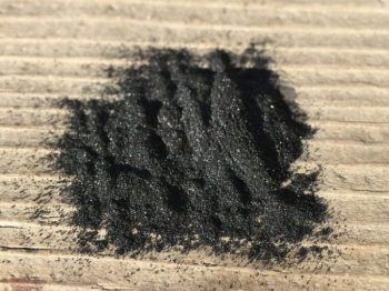 CRUSHED CHARCOAL CONDIMENTS CREATED.