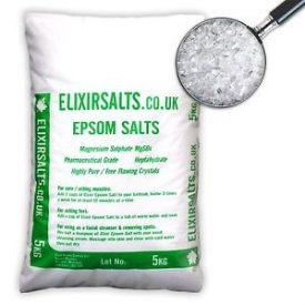 EPSOM SALTS BAGGED AND TAGGED INDEED. photocredit/thanks:elixirsalts