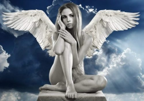 ANGEL OF WHITE INDEED... ONE OF CUPID's FRIENDS... HAS A SLIGHT HEADACHE.?.