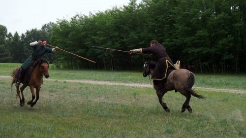 ON THE WAY... THE WAY OF THE HORSE... AND SPEAR.