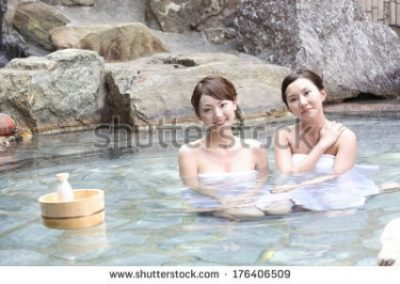 KUNOICHI HOT... KUNOICHI SPRINGS. MINERAL SALTS GALORE... AND A SMILE... FROWN TOO IT SEEMS INDEED.