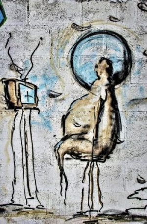 A MODERN BRAIN-WASHING TECHNIQUE CAN BE USED... VIA YOUR TV. MIND TRANCE STATES ARE ACHIEVED QUITE QUICKLY VIS FREQUENCY TRANSMISSION OF CERTAIN TYPE... SHIRO SAYETH AND SUGGESTS... BECOME AN OBSERVER... JUST WATCH THE WATCHERS HERE... TAKE A STEP BACK... STOP WATCHING THE TV... WATCH CHILDREN... WATCHING TV.!?. GLUED TO SCREEN... ALL ELSE FORGOTTEN... OFT UPSET WHEN REMOVED... SOUND SIM. TO A CHEM. INDUCED STATE INDEED. A HYPNOTIC MIND-STATE OF SUGGESTION... IDEAL FOR ADS... OR PROPAGANDA IT SEEMS... NO.!? ARE YOU SURE.?. IS THIS ALL... JUST A STRANGE DREAM.?.