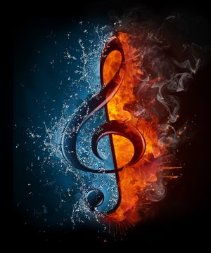 Image Of A Symbol For Elemental Music.