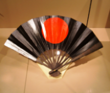 GUNSEN WAR FAN FROM THE EDO PERIOD OF JAPAN. A COMBO OF IRON, BAMBOO AND LOTSA LACQUER IT SEEMS INDEED. photocredit/thanks:asianartmuseumsanfrancisco