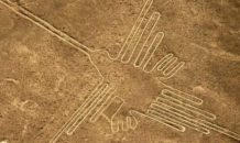 PART OF THE NAZCA LINES,.. PERU... this pictograph usually referred to as THE HUMMINGBIRD. photocredit/thanks:indiatimes