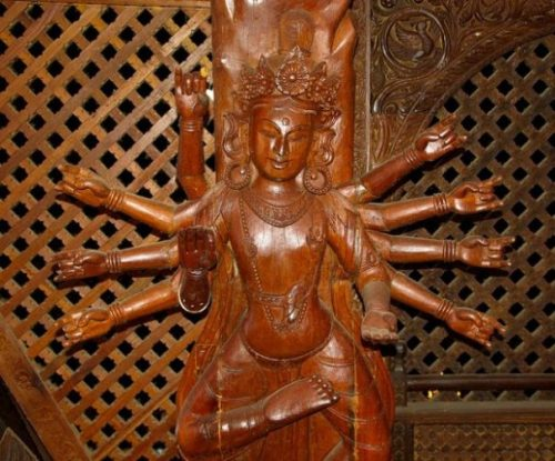 A GODDESS OF NEPAL... MULTI-ARMED... AKIN SHIVA.?.