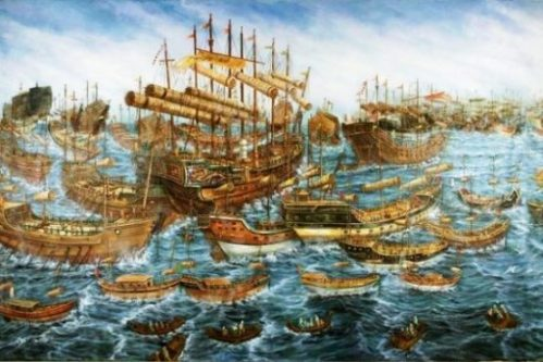 A MING TREASURE SHIP... AND FLEET. photocredit/thanks:geohaunt