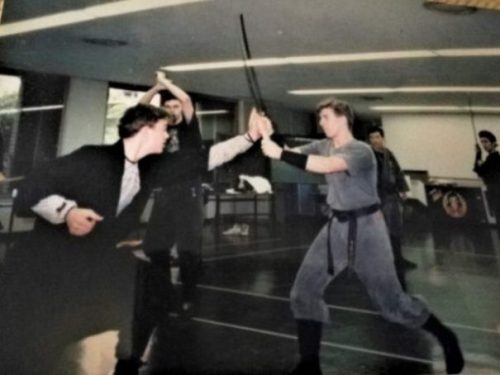 There have been many who promote NINPO... in whatever WAYs they can. ANTHONY NETZLER is indeed one such legend. When the Japanese Media of 1990 discovered Foreigners studying one of their LEGENDARY Martial Arts... on TV this had to go. So, Go,.. Sayeth too HATSUMI SOKE... then... BASICALLY THREW ANTHONY AND Several other Students who had agreed to act as opponent/victims... into the hands... camera and studio of the said eager Film Crew. Screened only once in Japan as far can tell... then Archived. Fortunately... twas still in the Archives and Anthony has shared a copy and the memory thereof... whilst Shiro... shares his memory... as a fall-guy that fateful day on Japanese TV. photocredit/thanks:shiro