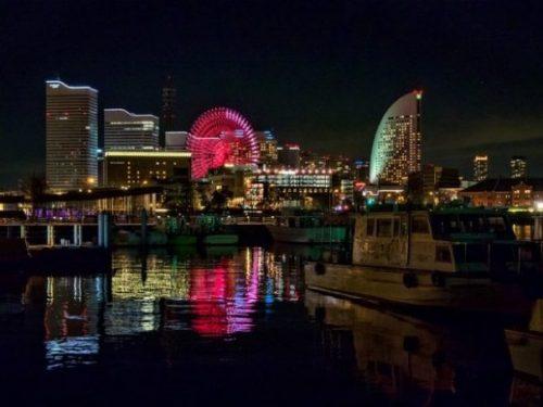 YOKOHAMA,.. THE BAY AT NIGHT.