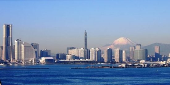 A VIEW OF THE THE BAY, YOKOHAMA.