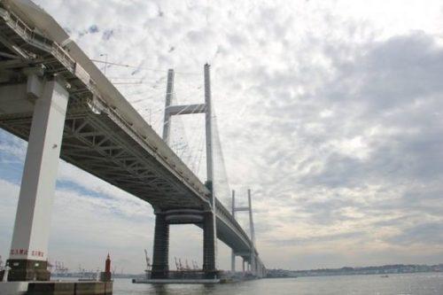 A CLOSER VIEW OF THE BAY BRIDGE, YOKOHAMA.