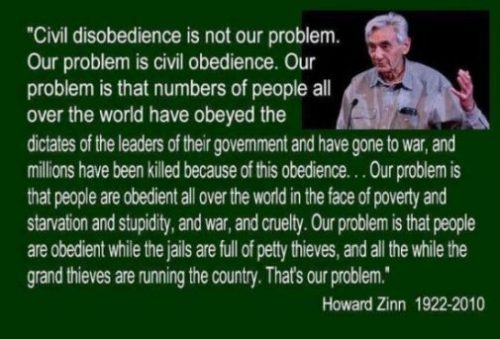 Image Of A Howard Zinn Quote And Pic.