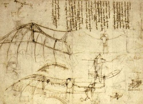 A Page in Leonardo's Journal. photocredit/thanks:pinterest