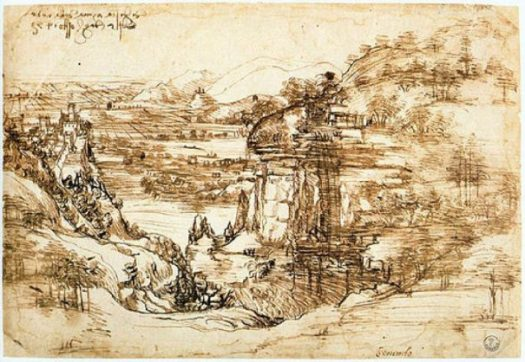 The Arno Valley... Leonardo da Vinci... Aug. 5th 1473. photocredit/thanks:biotorreco