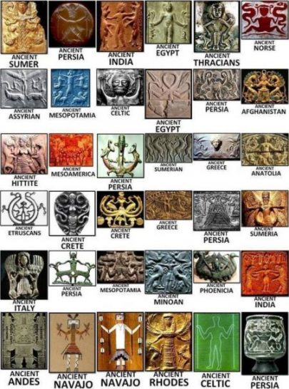 Ancient and Olden Divine Being Depictions. photocredit/thanks:pinterest
