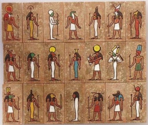 Montage Of Ancient Egyptian Gods And Goddesses.