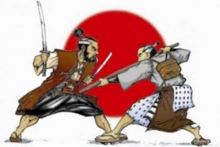 Musashi. Gonnosuke. Woodenly Would Wood Battle.