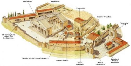 Image Of A Modern Reproduction Of The Ancient Greek Site Of Eleusis.