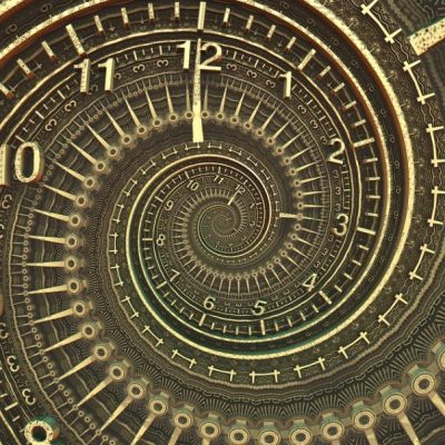 Image Of A Warped Clock Face.