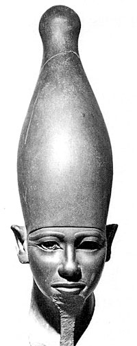 Image Of A Long Hatted/Headed Ancient Egyptian.
