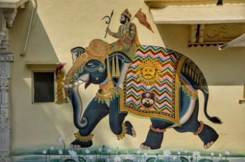 Featured Image Of Art Grafitti Styled Yore War Elephant And Rider.