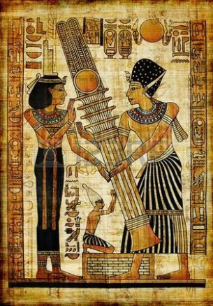 Image Of Ancient Egyptian Giants Helping Man Build.