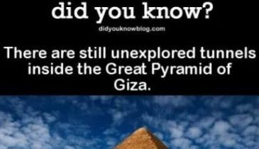 Image And Text Describing Tunnels Inside The Great Pyramid Of Egypt.