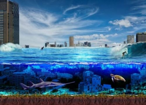 Fantasy Picture Of Underwater City.