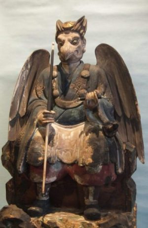 Image Of A Tengu Winged Being Of Japan Statue.
