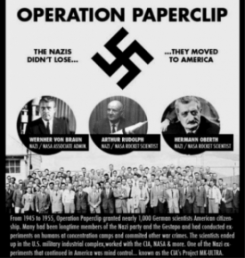 Image Of Nasa Operation Paperclip Personnel And Details.